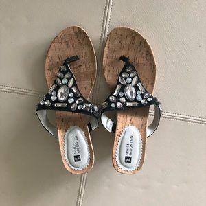 White Mountain Beaded Sandals.